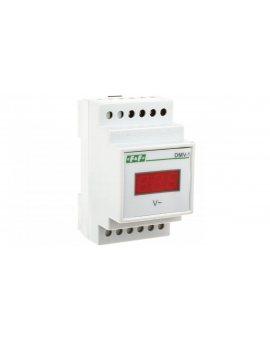 Woltomierz 1-fazowy cyfrowy modułowy 100-300V AC dokładność 1% DMV-1