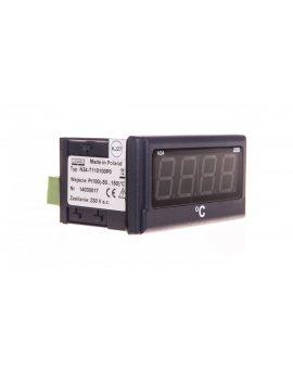 Miernik cyfrowy 4 cyfr wejście temperaturowe Pt100 -50-150st.C zasilanie 230V AC jednostka st.C N24 T110100P0