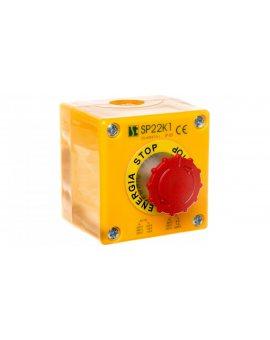 Kaseta sterownicza przycisk grzybkowy (B) bezpieczeństwa ryglującym sie samoczynnie ENERGIA STOP SP22K1\08-1