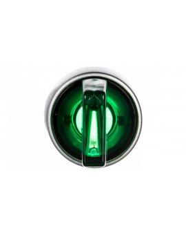 Przełącznik 3-poł. zielony 2Z podświetlany 230V AC pierścień niklowany ST22-P3L.Z-20-LED\230AC