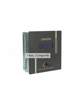 Regulator mocy biernej, pomiar jednoprądowy, 12 wyjść, komunikacja RS LRM001/11-12 RS