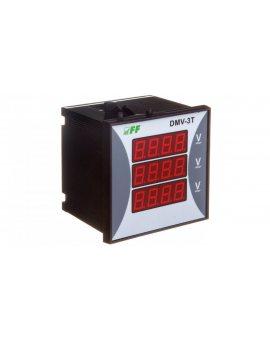 Woltomierz 3-fazowy cyfrowy modułowy 100-300V AC dokładność 0, 5% TrueRMS DMV-3T