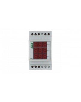 Amperomierz 3-fazowy cyfrowy modułowy 0-20A dokładność 0, 5% DMA3RMS