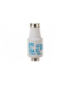 Wkładka bezpiecznikowa 25A DII gR 500V DIIUQ25A E27 004322007