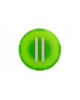 Wkładka przycisku 22mm płaska zielona z symbolem START II M22-XD-G-X2 218168