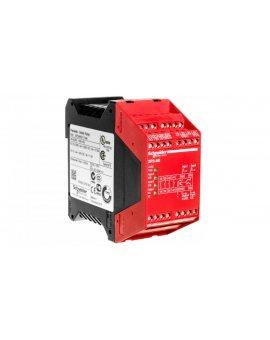Przekaźnik bezpieczeństwa do wyłącznika awaryjnego 3Z 1R 4 tranzystorowe 24V AC/DC PREVENTA XPSAK311144